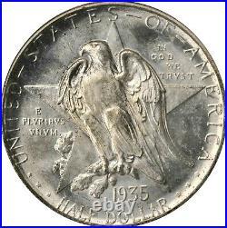 1935-d Texas Commemorative Half Dollar Pcgs Ms-65 Old Green Holder