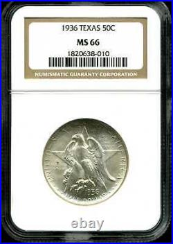 1936 50C Texas Commemorative Half Dollar MS66 NGC 1820638-010