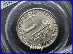 1936 50C Wisconsin Silver Half Dollar PCGS MS66 ORIGINAL MOSTLY WHITE