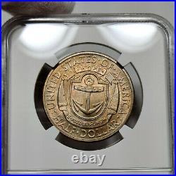 1936-D MS66 Rhode Island Commemorative Half Dollar 50c, NGC Graded