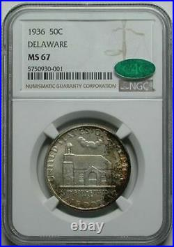 1936 Delaware Silver Commemorative Half Dollar NGC MS-67 CAC