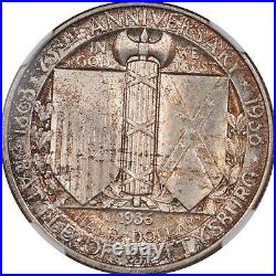 1936 Gettysburg Commemorative Half Dollar Ngc Ms-65