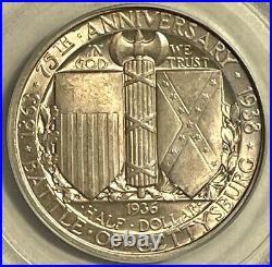 1936 Gettysburg Commemorative Half Dollar PCGS MS64 Old Green Holder