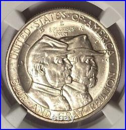 1936 Gettysburg Commemorative Silver Half Dollar Ngc Ms64