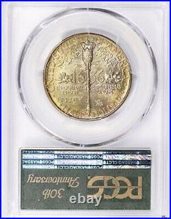 1936 Norfolk Commemorative Half Dollar Gorgeous Gold Toning & PCGS MS68 TruView