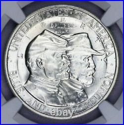 1936-P 1936 Gettysburg Commemorative Silver Half Dollar 50c NGC MS 65