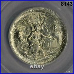 1936 P Texas Commemorative Half Dollar Anacs Certified Ms65 Blazing White #8143