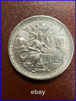 1936-S 50c Texas Independence Centennial Silver Commemorative Half Dollar Z1495