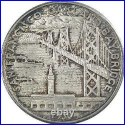 1936 S San Francisco Oakland Bay Bridge Commemorative Half Dollar 90% Silver 50c