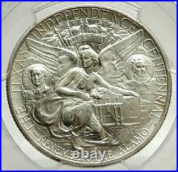 1936 S TEXAS Independence Commemorative Silver Half Dollar Coin PCGS MS i76465