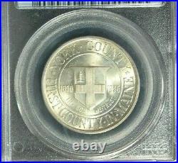 1936 York Commemorative Silver Half Dollarpcgs Ms 67 Beautiful Coin