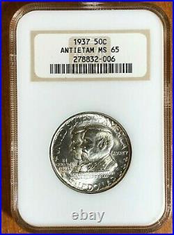 1937 Antietam Silver Commemorative Half Dollar Graded MS65 by NGC
