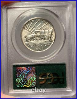1937-D 50c PCGS MS 65 CAC Gold Oregon Commemorative Half Dollar-CAC Gold Sticker