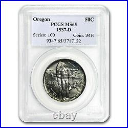 1937-D Oregon Trail Commemorative Half Dollar MS-65 PCGS SKU#153833