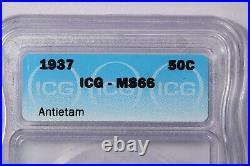 1937-P 1937 Antietam Commemorative Half Dollar ICG MS66