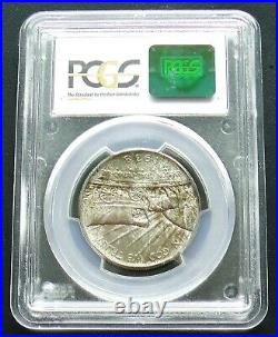 1938-D Oregon Trail Silver Half Dollar PCGS MS66 CAC Tab Toning
