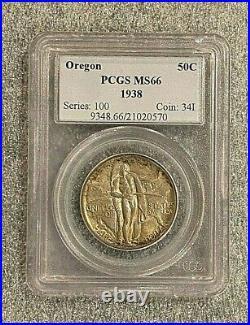 1938 Oregon Commemorative Half Dollar PCGS MS66 Incredible Detail