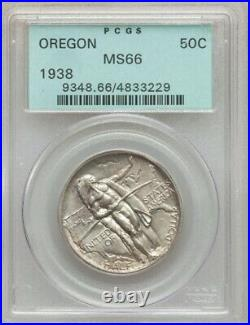 1938 Oregon commemorative half dollar / PCGS MS-66 OGH