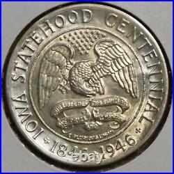 1946 Iowa Commemorative Half Dollar Choice To Gem Uncirculated-slight Tone