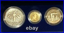 1986 US Liberty Proof Set 3 Coins $5 GOLD, SILVER & HALF DOLLAR, SPECIFICATIONS