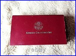 1998 Kennedy Collector's Set Rfk And Jfk Silver Dollar & Matte Half