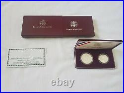 1998-S Kennedy Commemorative Silver Dollar and Half Dollar Matte 2-Coin Set
