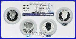 2014 Deep Mirror Proof 50th Anniversary Kennedy Silver Half Dollar set NGC 70DPL