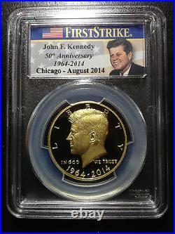2014 W Gold Kennedy Half 50th Anniversary Chicago ANA PCGS PR70 DCAM 1st Strike