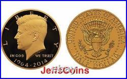 2014 W Gold Kennedy Half Dollar 50th Anniversary NGC PF70 UCAM + OGP