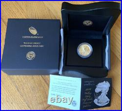 2016 W Walking Liberty Half Dollar Centennial 1/2 Oz. 9999 Gold Coin