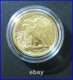 2016-W Walking Liberty Half Dollar Centennial 1/2 ounce GOLD Coin, US Mint 16XA