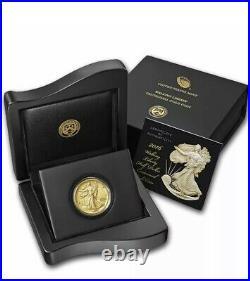 2016 WALKING LIBERTY 1/2 OZ GOLD 999 FINE CENTENNIAL, In Original Box with COA