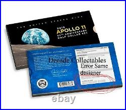 2019 Apollo 11 50th Anniversary Enhanced Reverse Proof Half Dollar ERROR 19CF