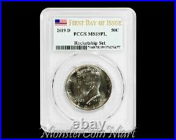 2019-D Kennedy Half Dollar PCGS MS69PL FIRST DAY OF ISSUE ROCKETSHIP SET