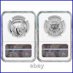 2019-S 50c Apollo 11 50th Ann. Half Dollar 2pc. Set NGC PF70 ASF ER Label