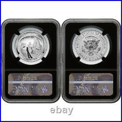2019-S 50c Apollo 11 50th Ann. Half Dollar 2pc. Set NGC PF70 FDI ASF Label Retro