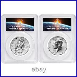 2019-S 50c Apollo 11 50th Ann. Half Dollar 2pc. Set PCGS PR70 FS AMF Label