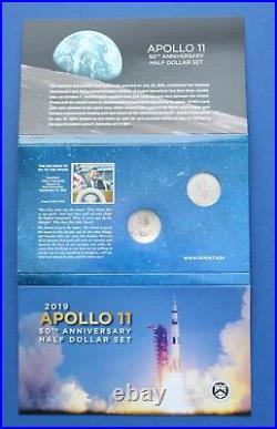 2019 (S) U. S. Mint Apollo 11 Proof Half Dollar Set (19CF) withpackaging ERROR