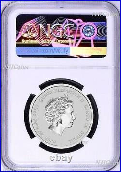 2020 Homer Simpson Colored 1/2oz. 9999 Silver Half Dollar COIN NGC MS70 ER