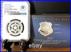 2021 S NATIONAL LAW ENFORCEMENT 50c Half Dollar NGC PF70Ultra Cameo FIRST RELEAS