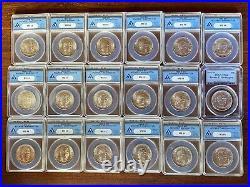 Complete Collection BOOKER T. WASHINGTON Commemorative Silver Half Dollar Coins