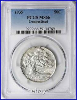 Connecticut Commemorative Silver Half Dollar 1935 MS66 PCGS