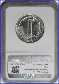 Gettysburg Commemorative Silver Half Dollar 1936 MS64 NGC