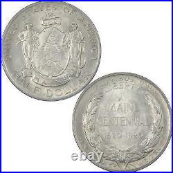 Maine Centennial Commemorative Half Dollar 1920 AU 90% Silver 50c US Coin