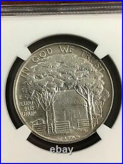 Ngc Au58 1922 Grant Memorial Commemorative Silver Half Dollar With Star Rare