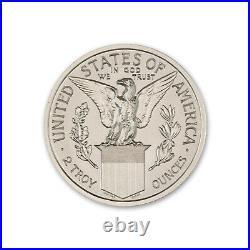 Pan-Pac Commemorative Half Dollar Memorial 2 oz Silver BU Round USA Made Coin