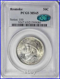 Roanoke Commemorative Half Dollar 1937 MS65 PCGS (CAC)