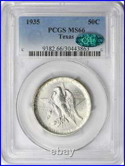 Texas Commemorative Silver Half Dollar 1935 MS66 PCGS (CAC)