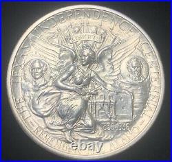 Texas Independence Centennial Silver Commemorative Half Dollar Gemmy/ White
