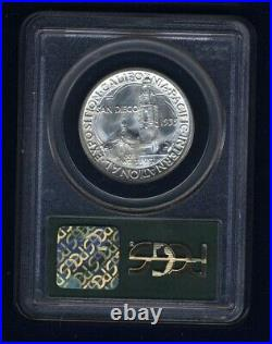 U. S. 1935-s San Diego Half-dollar Silver Coin, Uncirculated, Certified Pcgs-ms65